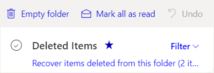 Recover items deleted from this folder