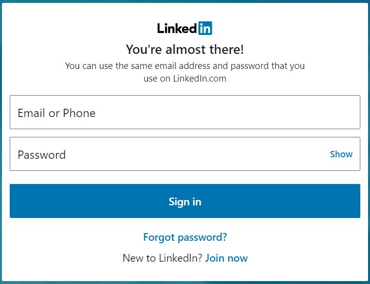 LinkedIn.com SignIn