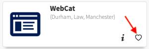 WebCat Task - Select Heart image to favorite