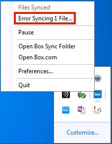 Error Syncing File on Windows