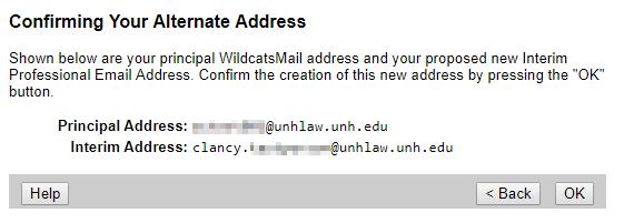 Confirm you alternate address