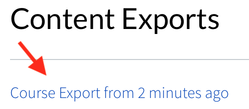 Course Export Link