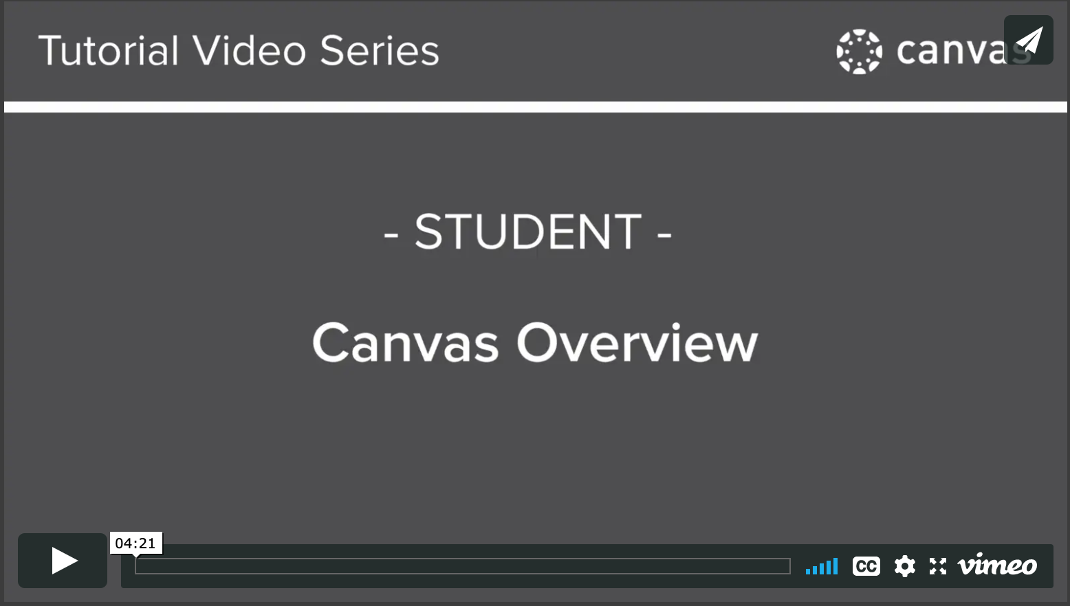 Student Canvas Overview