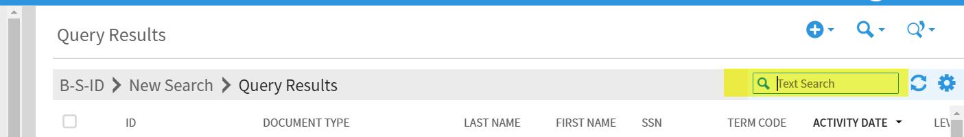text search box