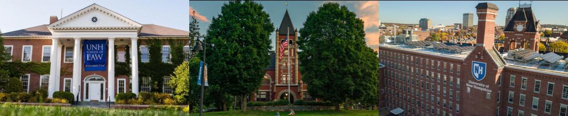 Three UNH campus locations