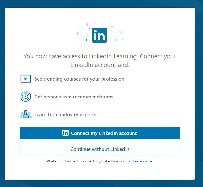 confirm connecting a LinkedIn account image