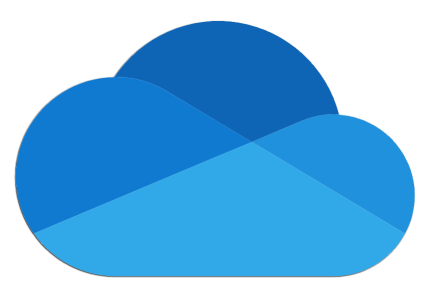 image of Microsoft OneDrive icon that looks like a 3D cloud