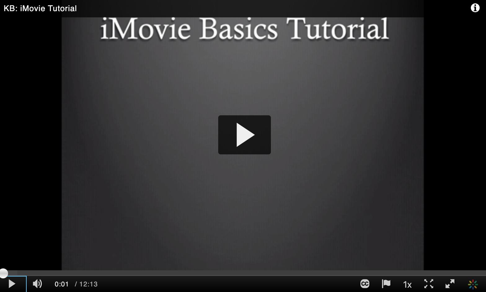 iMovie Tutorial video