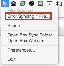 Error Syncing File on Mac
