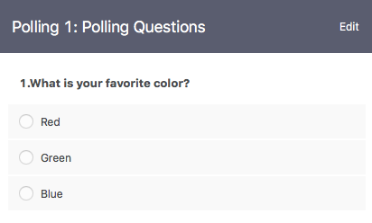 polling question