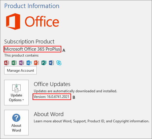 Microsoft Office Product Information