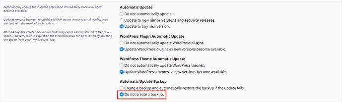 Do not create backup