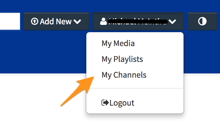 Select My Channels from Dropdown