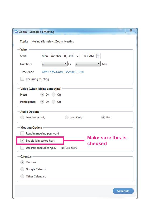 Join before host screenshot (desktop application)