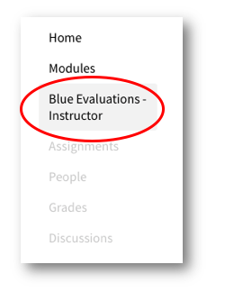 Blue Evaluations - Instructor