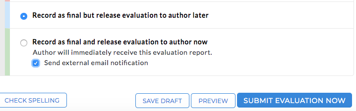 Release to author options