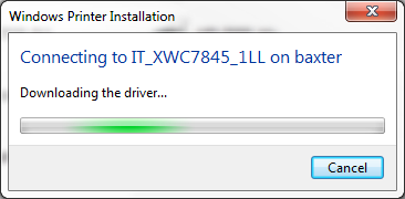 Illustration of driver download dialog