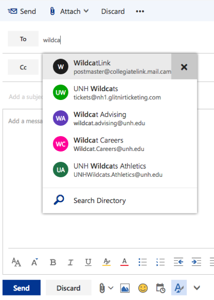 Clear Suggestion in Outlook on the Web