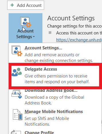 Delegate Editable Access Select Users