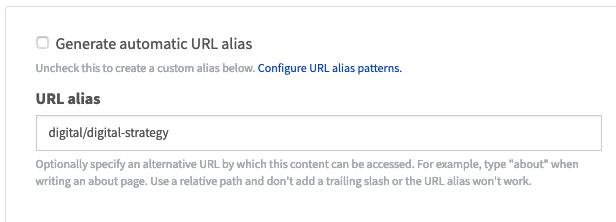 Drupal URL config example