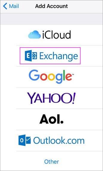 iOS Email Menu