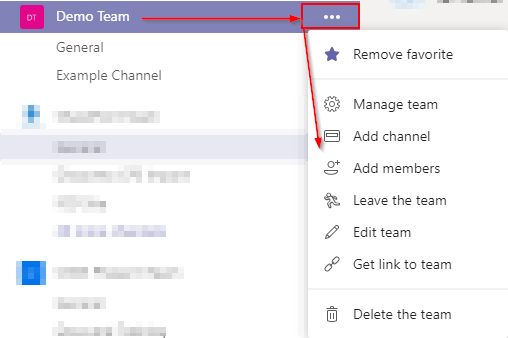 Microsoft Teams Add Members