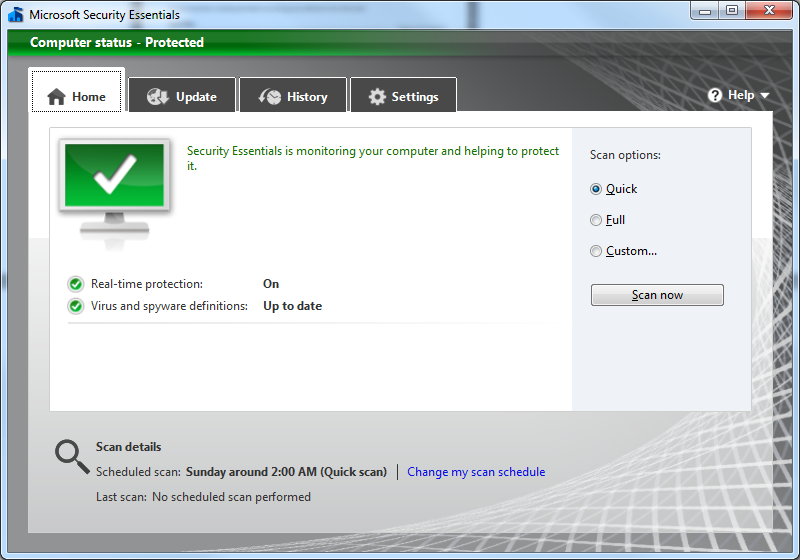MSE application window displaying the update process
