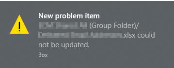 Box Drive New Problem Item error