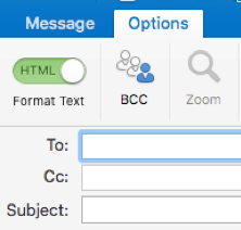 Option and BCC field for Mac