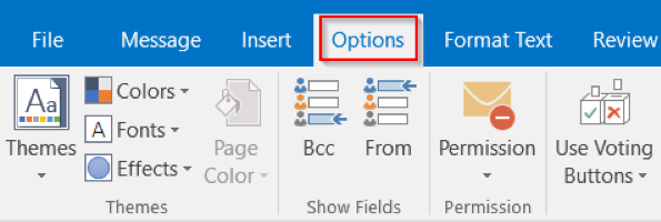Option BCC and From fields for Windows