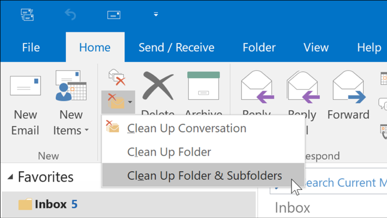Outlook Clean Up