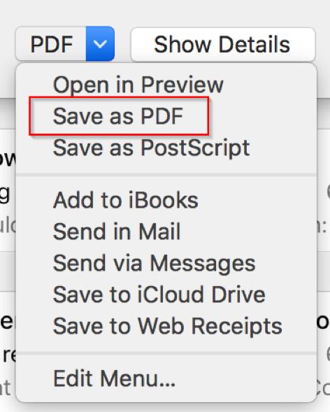 Outlook Mac Save as PDF