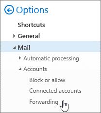Outlook on the Web Forwarding
