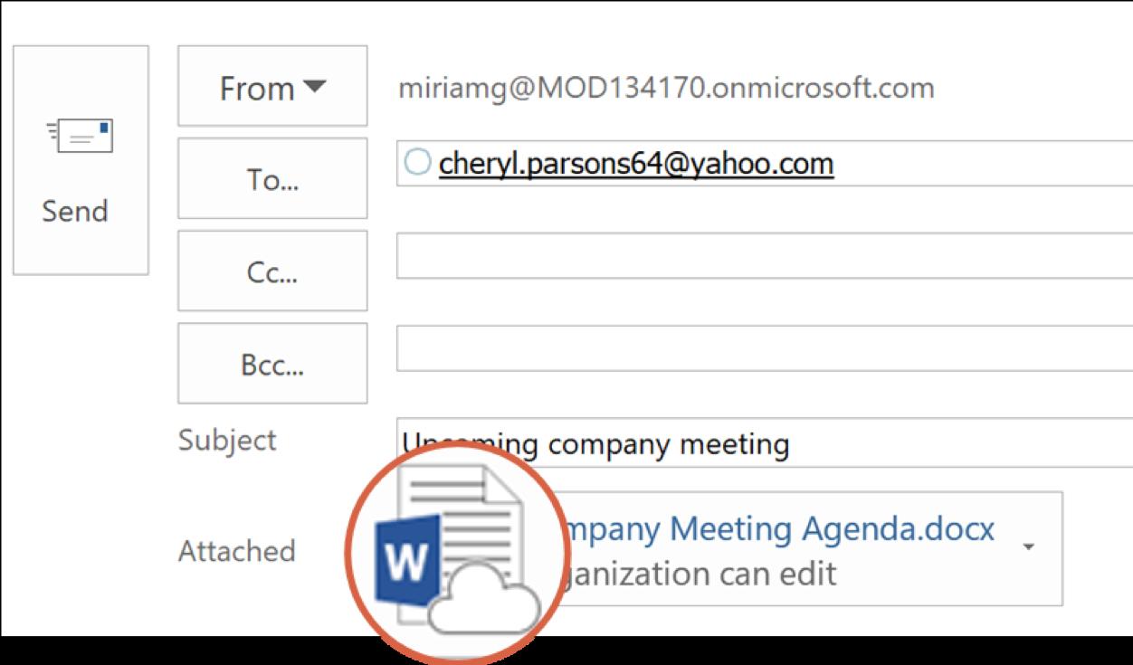 Outlook PC Link Sending