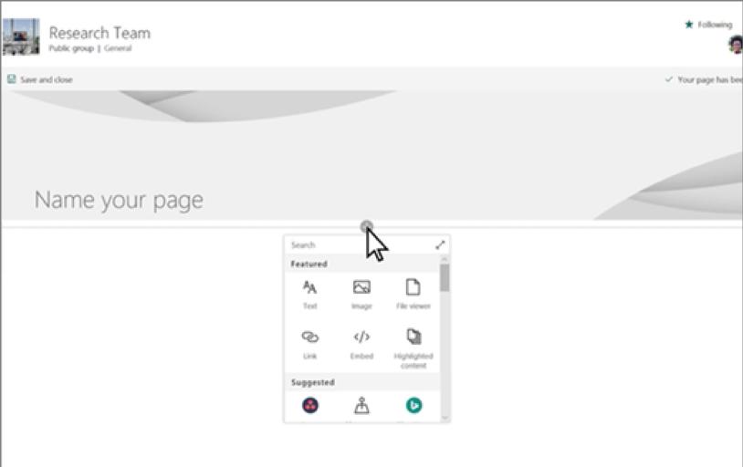 Pages Web Parts