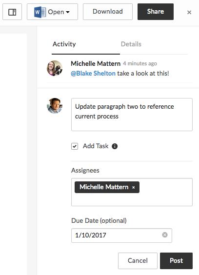 screenshot of tasks window