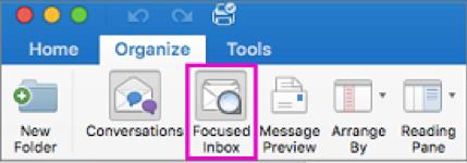 Focused Inboxes on Outlook Desktop App Mac