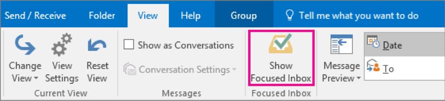 Focus Inbox on Outlook Desktop Application